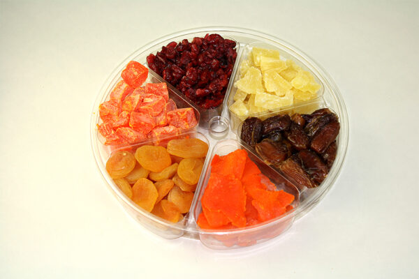 Tray with assorted dried fruit
