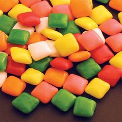 Gumball colored chiclets