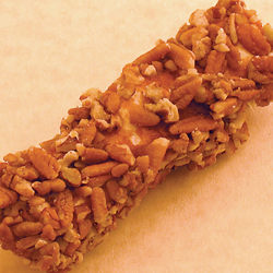 Log of candied pecans