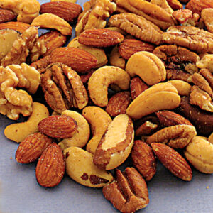 Almonds, Cashews, Pecans, Brazils, Walnuts Roasted & Salted