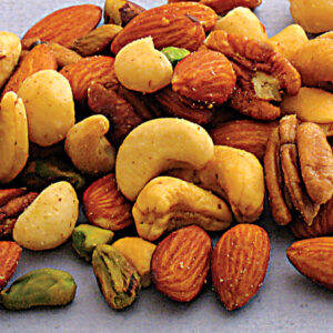 Almonds, Cashews, Macadamias, Pecans, Pistachios Roasted & Salted