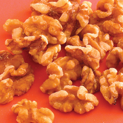 halved english walnuts